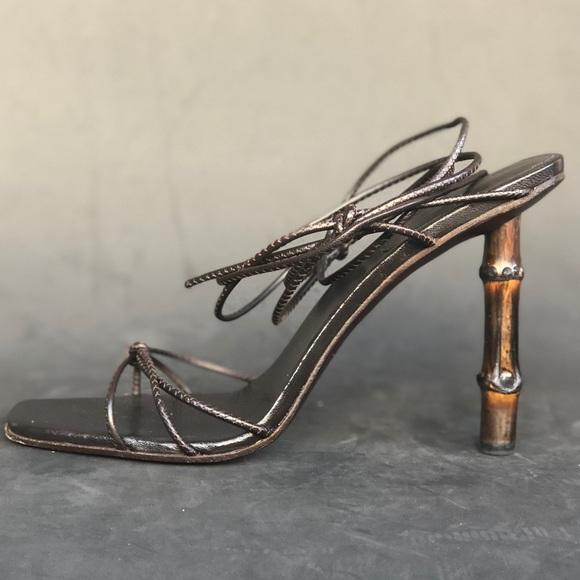71fd07cbb Gucci Shoes - GUCCI bamboo heel strap sandals